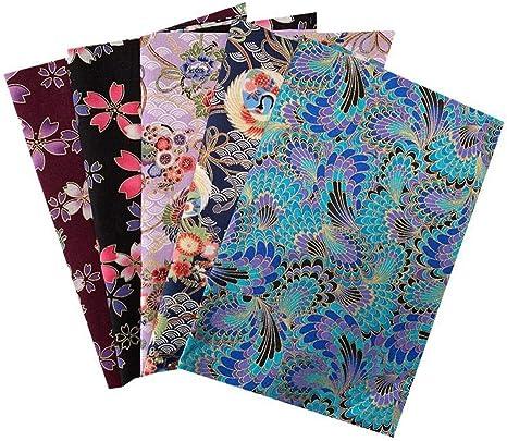 mbition 20x25 CM Tela de algodón DIY Patrón de Flores pequeñas Tela de Estilo japonés, Paquete de Tela Artesanal de algodón Patchwork de Estilo japonés, Patchwork de Costura DIY 5PCS: Amazon.es: Amazon.es