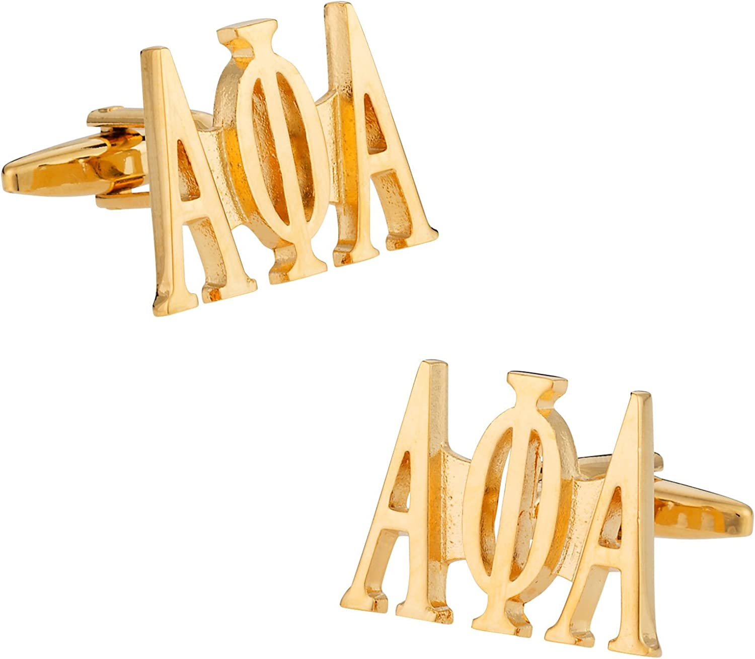 Cuff-Daddy Alpha Phi Alpha Cufflinks in Gold with Presentation Box
