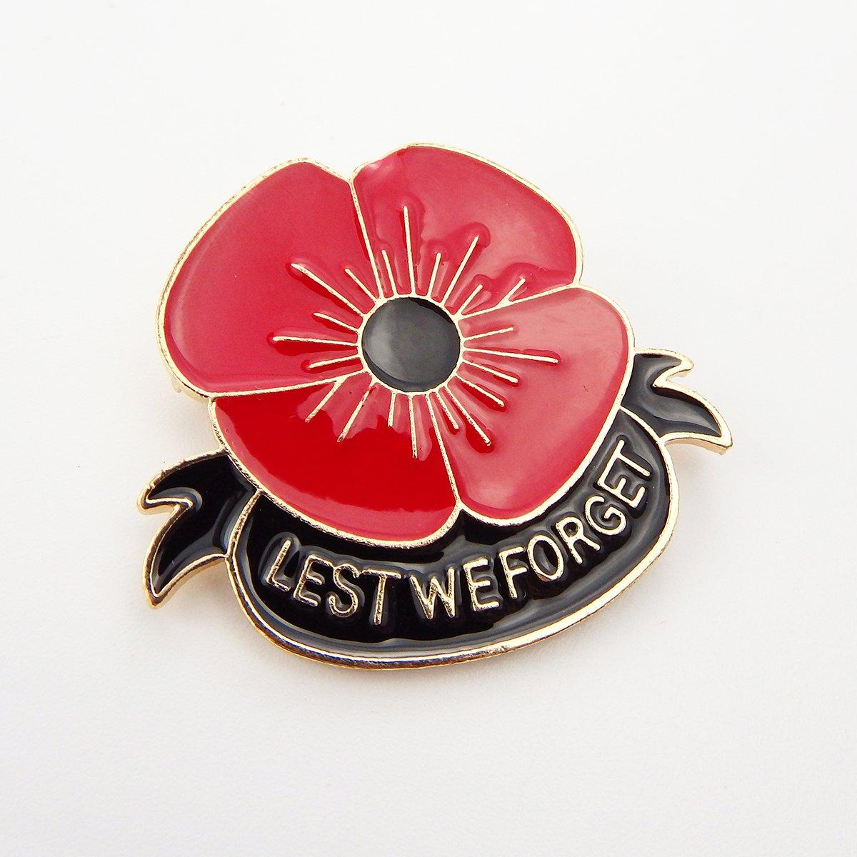 3 PCS Enamel Poppy Pin Badge Remembrance Memorial Day Gifts