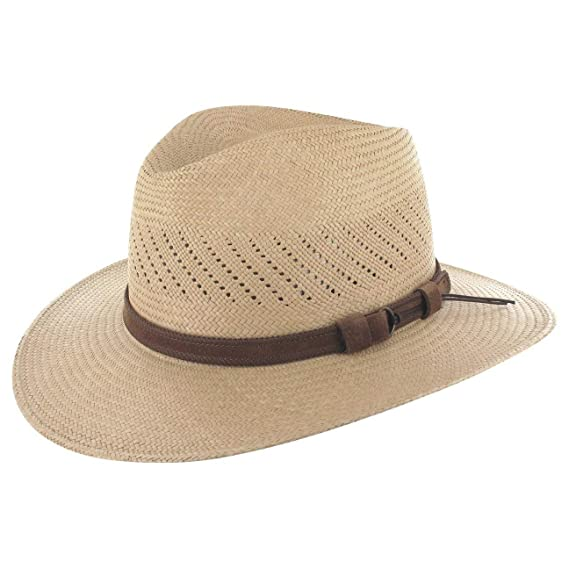 LIERYS Rustic Panamahut Hüte Herren Strohhüte Ecuador Sonnenhut Strohhut