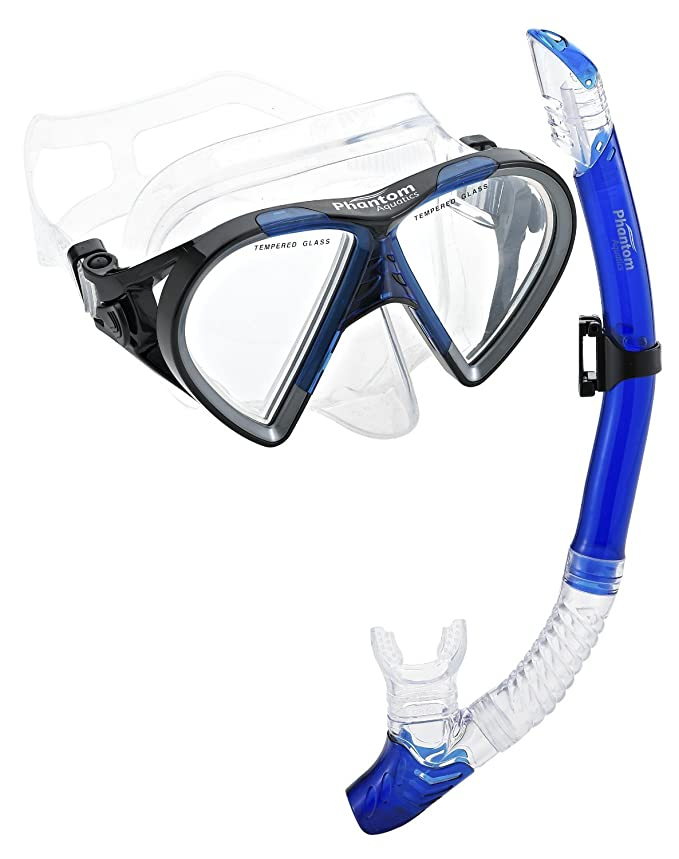 Phantom Aquatics Cancún máscara Snorkel Combo, All Black: Amazon.es: Deportes y aire libre