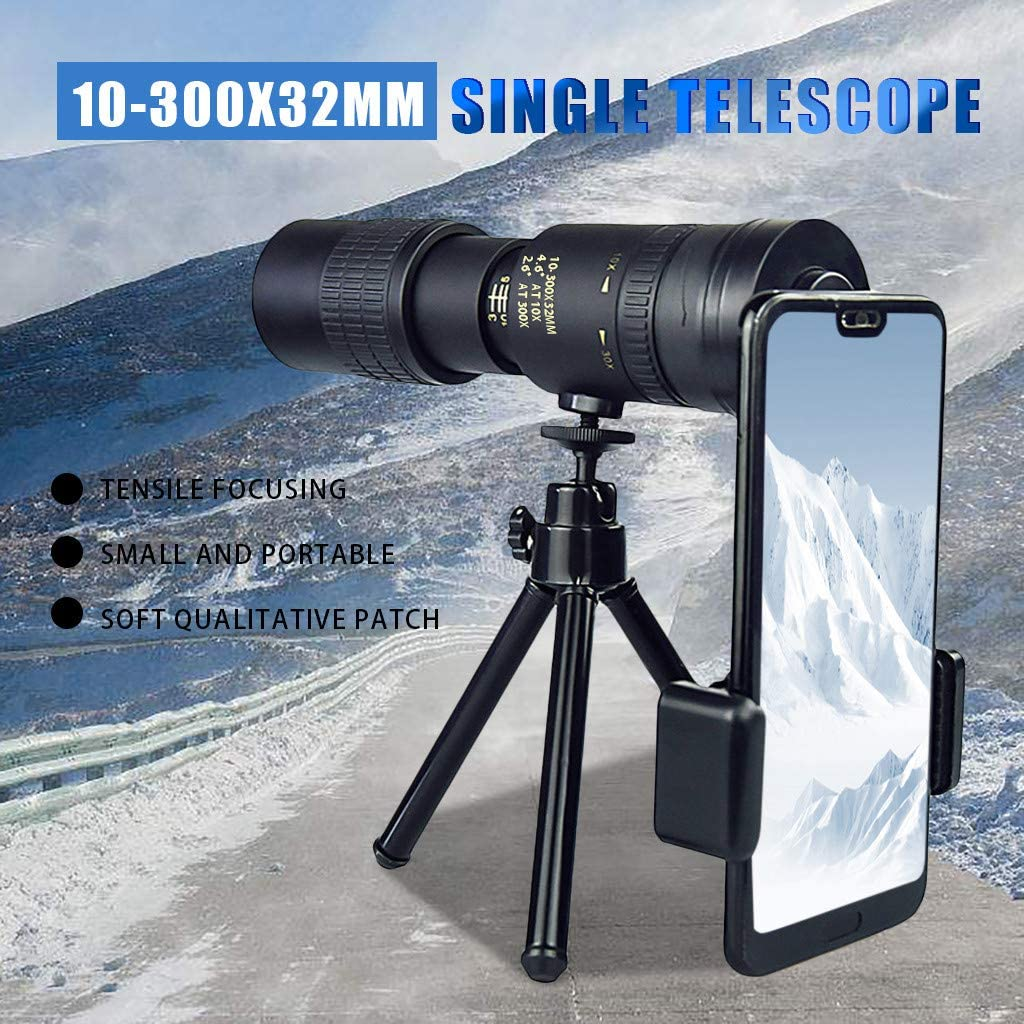 Meaney 4K 10-300X40mm Super Telephoto Zoom Monocular Telescope for Beach Travel