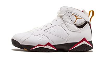 10b9c85df60482 Jordan Nike Mens Air 7 Retro Cardinal  304775-104  White Bronze-