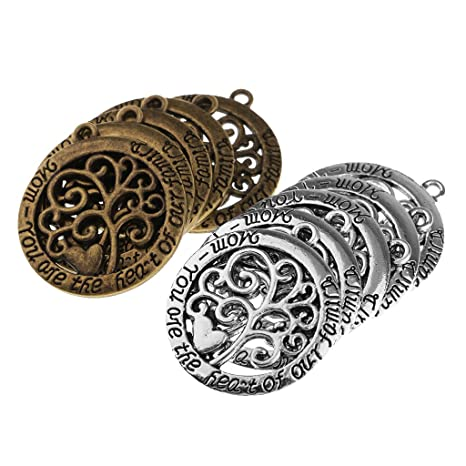 Moon Charm//Pendant Tibetan Antique Silver 19mm  10 Charms Accessory Jewellery