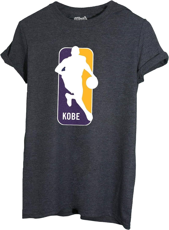 Kobe Logo MUSH T-Shirt Grigio Scuro Lakers