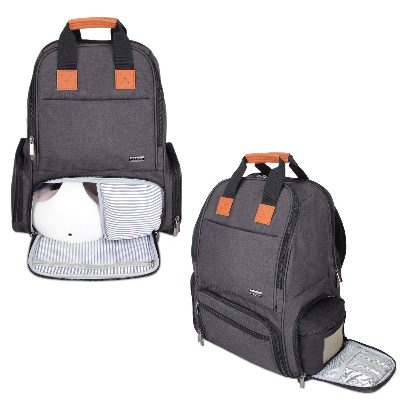 luxja Breastポンプバックパック – Fitsほとんどの主要ブランド ブラック LX01201  ブラック B078XPKRZN