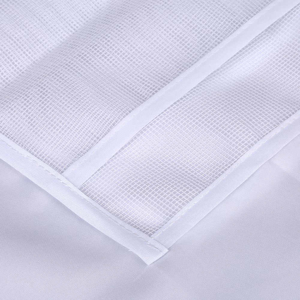 antipolvere Htovila tenda della doccia materiale PEVA 180x180cm tende da doccia impermeabile con 12 ganci in plastica,beige