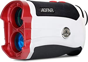AOFAR GX-2S Golf Rangefinder Slope on/Off, 600 Yards White Range Finder, Flag-Lock with Vibration, Waterproof, Gift Packaging