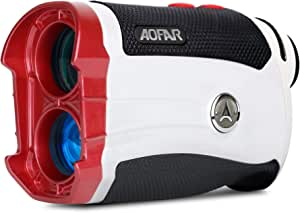 AOFAR Slope Golf Rangefinder,600 Yards White Range Finder,Flagpole Lock, Vibration, 6X 25mm Waterproof, Carrying Case, Battery, Gift Packaging