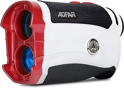 AOFAR GX-2S Slope Golf Rangefinder,600 Yards White Range Finder,Flagpole Lock, Vibration, 6X 25mm Waterproof, Carrying Case, Battery, Gift Packaging