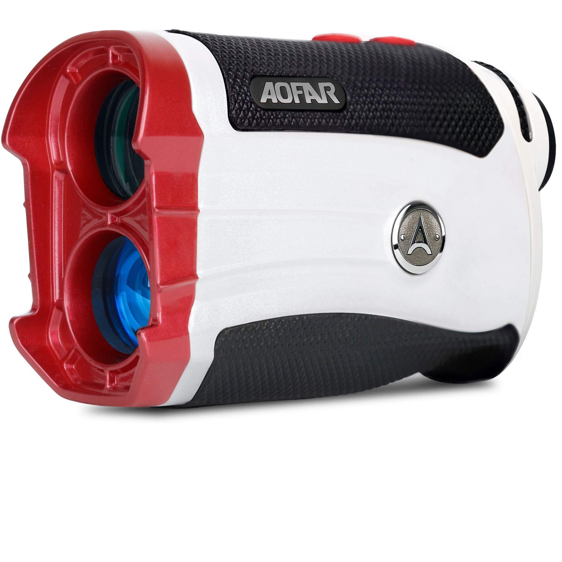 AOFAR G2 Slope Golf Rangefinder,600 Yards White Range Finder,Flagpole Lock, Vibration, 6X 25mm Waterproof, Carrying Case, Battery, Gift Packaging