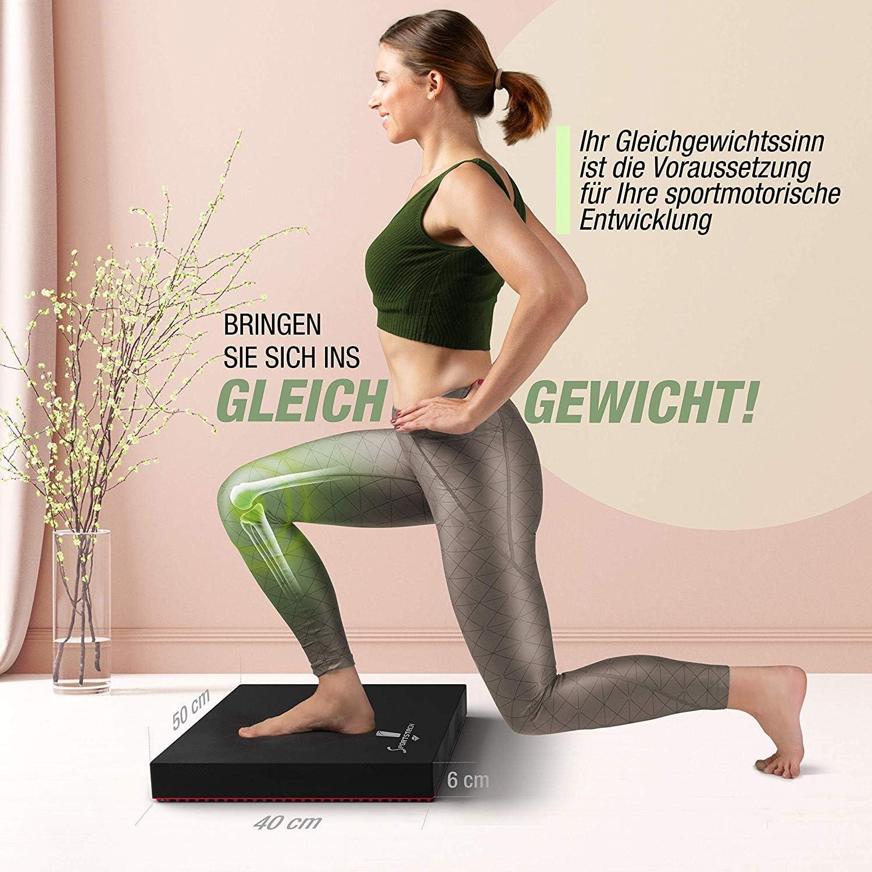 Balance Board aus Schaumstoff Etc. Pilates Fitness Fitness- und Gymnastik Kissen f/ür Gleichgewichtstraining Rehabilitation Yoga SL Balance Pad