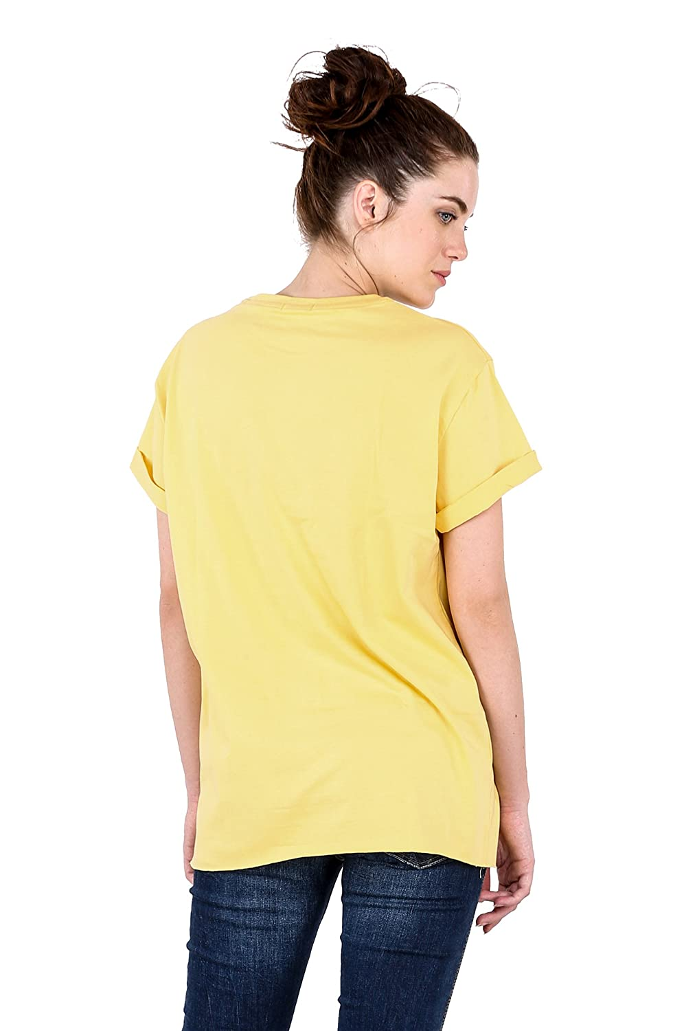 ccd44c2fe Bewakoof Women s Cotton Printed Boyfriend T-Shirts Yellow X-Small 112281   Amazon.in  Clothing   Accessories