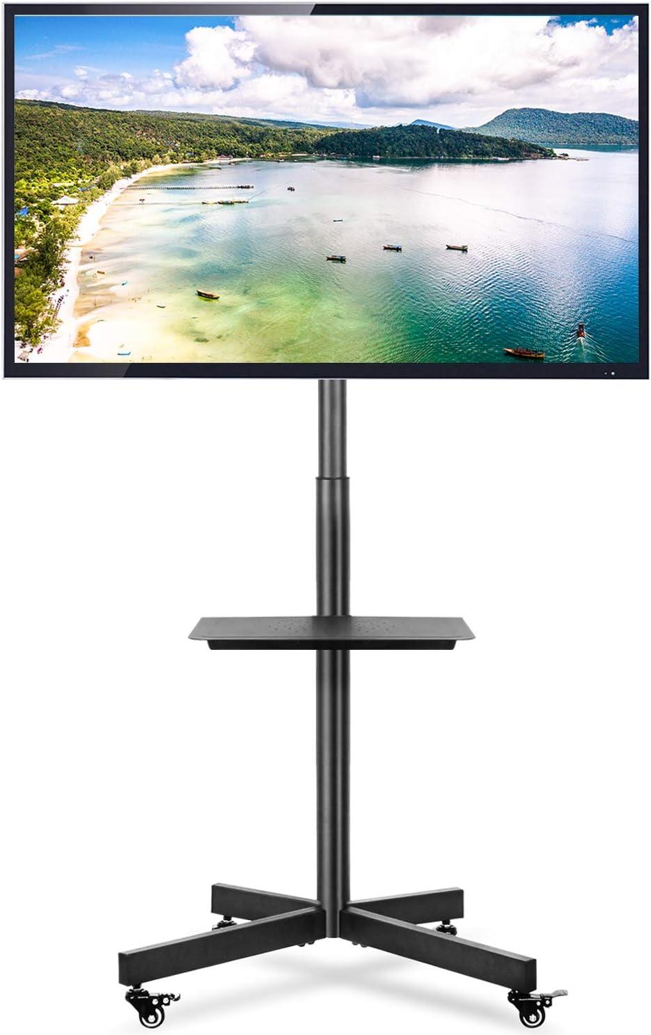 RFIVER Support TV sur Pied Meuble TV avec Support Pivotant Cantilever pour T/él/és et Ecrans LCD LED de 32 /à 65 Pouces TF2003