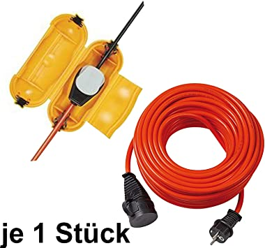Brennenstuhl Safe Box Schutzkapsel Für Kabel Big Ip44 Outdoor Gelb 1x Safe Box Mit 10m Verlängerungskabel Baumarkt