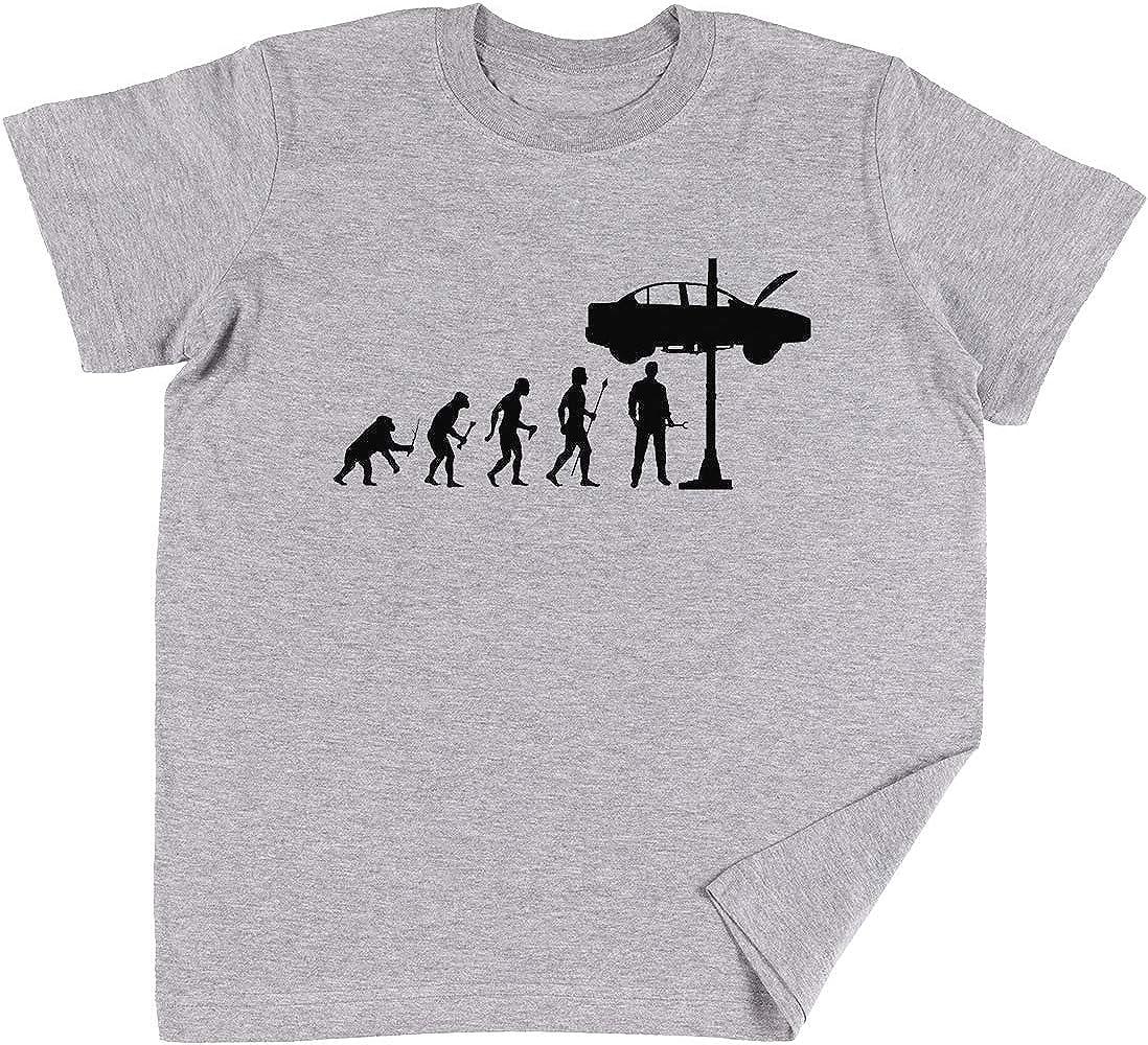 Vendax Evolución De Hombre Y Mecánico Niños Chicos Chicas Unisexo Camiseta Gris: Amazon.es: Ropa y accesorios