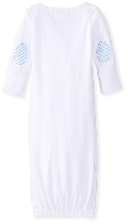 Amazon.com: Mud Pie Baby-Boys Newborn Tie Sleep Gown, White, 3-6 ...