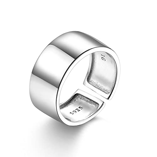 9f2051559c4fd SILBERTALE Sterling Silver Stackable Above Knuckle Open Toe Finger Ring  Band Cuff Thumb Ring Adjustable