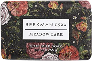 product image for Beekman 1802 - Bar Soap - Meadow Lark - Moisturizing Triple Milled Soap with Goat Milk - Naturally Rich in Lactic Acid & Vitamins, Great for All Skin Types - Cruelty-Free Bodycare - 9 oz