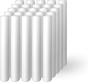 """Ronaqua 5 Micron 20"""" x 2.5"""" Sediment Replacement Cartridge. Fits Standard 20 inch x 2.5 inch Housings. Compatible with FPMB5-20, FPMB520, SDC-25-2005/4, VX05-20, 25 Pack"""