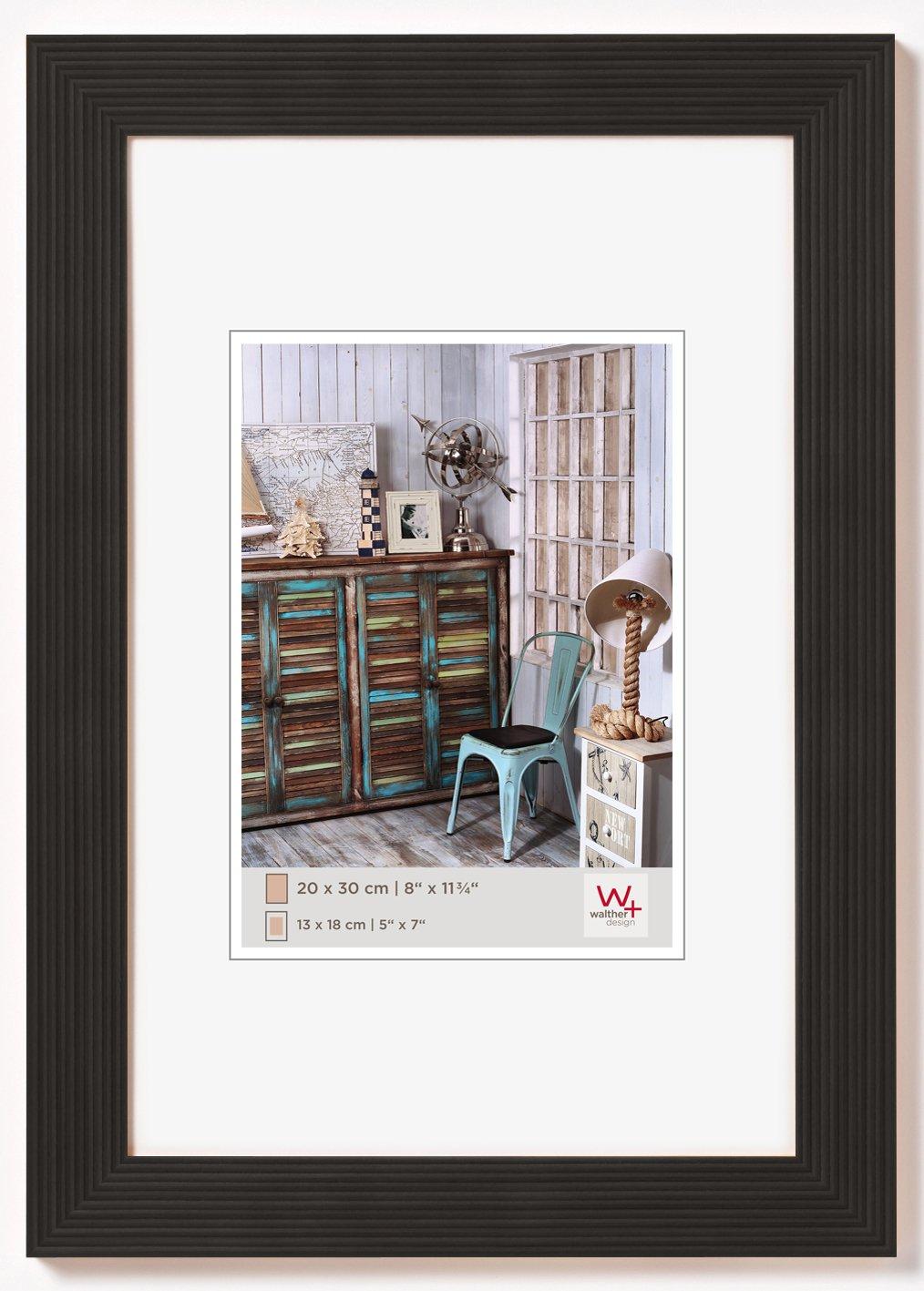 Amazon.de: walther HI040B Grado Holzrahmen Format 30 x 40 cm, schwarz