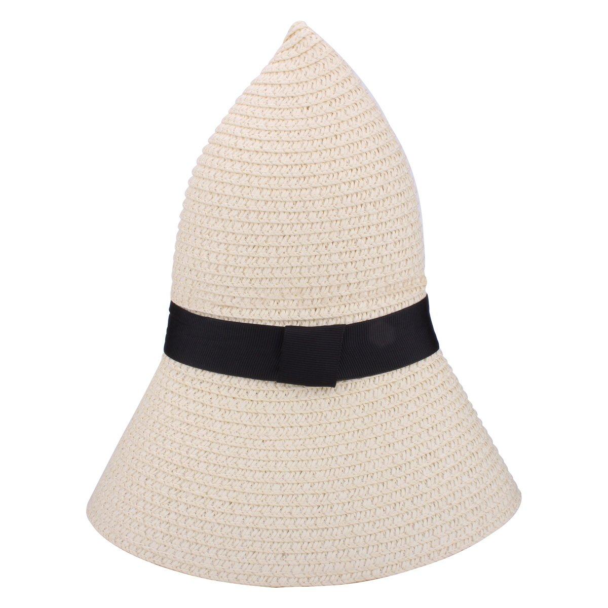 YOPINDO Sombrero de Paja para Mujer UPF 50+ Big Brim Sombrero de Playa  Plegable Summer Beach Hat (9201 Blanco)  Amazon.es  Ropa y accesorios 31d1b5c1a3c6