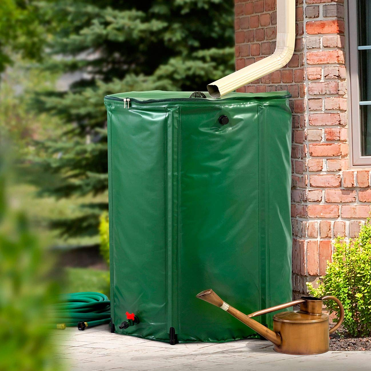 HSN Collapsible Rain Barrel Water Storage - 132 Gallon by HSN