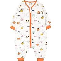 Bebé Saco de Dormir con Pies Verano Pijama Manga Larga Mono Muselina de Algodón Transpirable Mamelucos Niños Niñas…