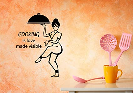 Amazon.com: Funny Vinyl Wall Decals for Kitchen Quotes ...