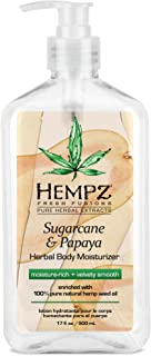 product image for Hempz Herbal Body Moisturizer for Women with 100% Pure Hemp Seed Oil, Sugarcane & Papaya, 17 fl. oz. - Moisturizing Lotion with Shea Butter, Vitamins A, B & C, for Dry Skin - Premium Women's Lotion