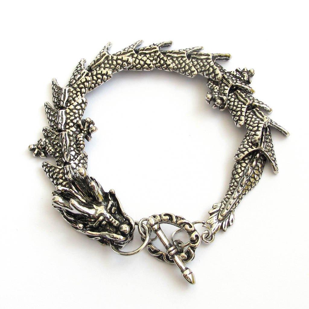 Silver-tone Alloy Metal Dragon Bracelet Ovalbuy T1860-1580-am