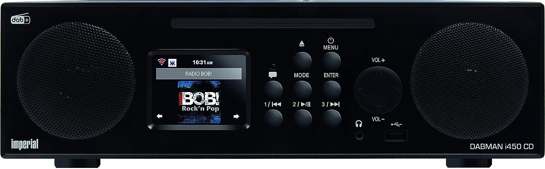Imperial 22-247-00 Dabman i450 Negro Radio CD para Internet y Dab