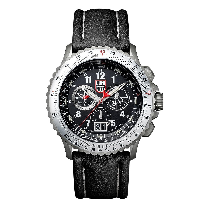 Luminox 9241メンズAir F 22 9240ブラックダイヤルブラックレザーストラップクロノDive Watch B01I5K06UK