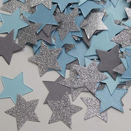 Amazoncom 200pcs Twinkle Twinkle Little Star Blue Gray Silver