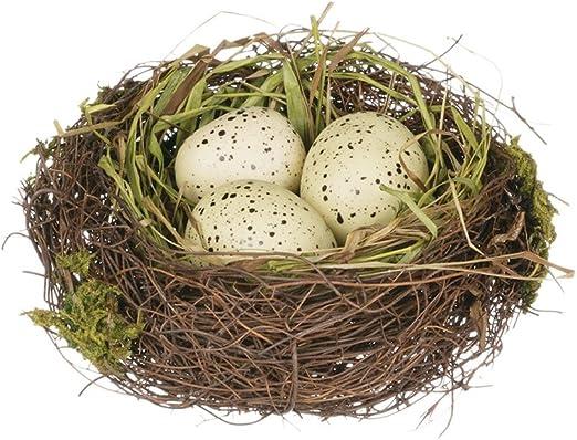 Amazon Com Sullivans 4 Replica Bird S Nest With Yellow Spotted Eggs Home Kitchen