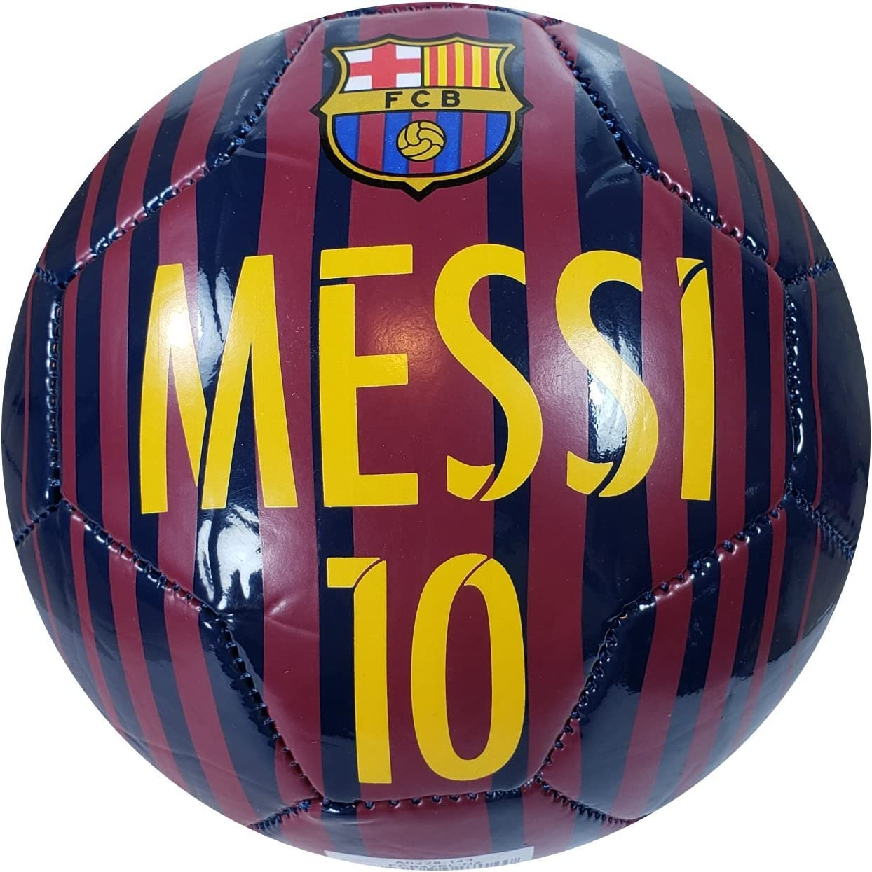 F.C Barcelona Official Licensed Messi 10 Signautre Soccer Ball Size 2-10-2