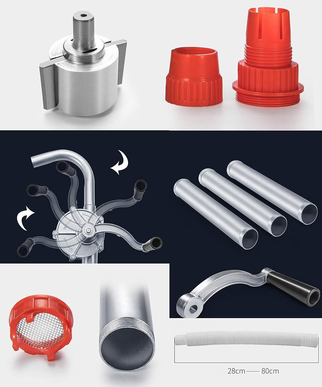 Rotary Hand Manual Drum Barrel Pump Aluminum Alloy Hand Crank Oil Barrel Drum Pump Pumping Petrol Diesel Fuel For Petroleum Products