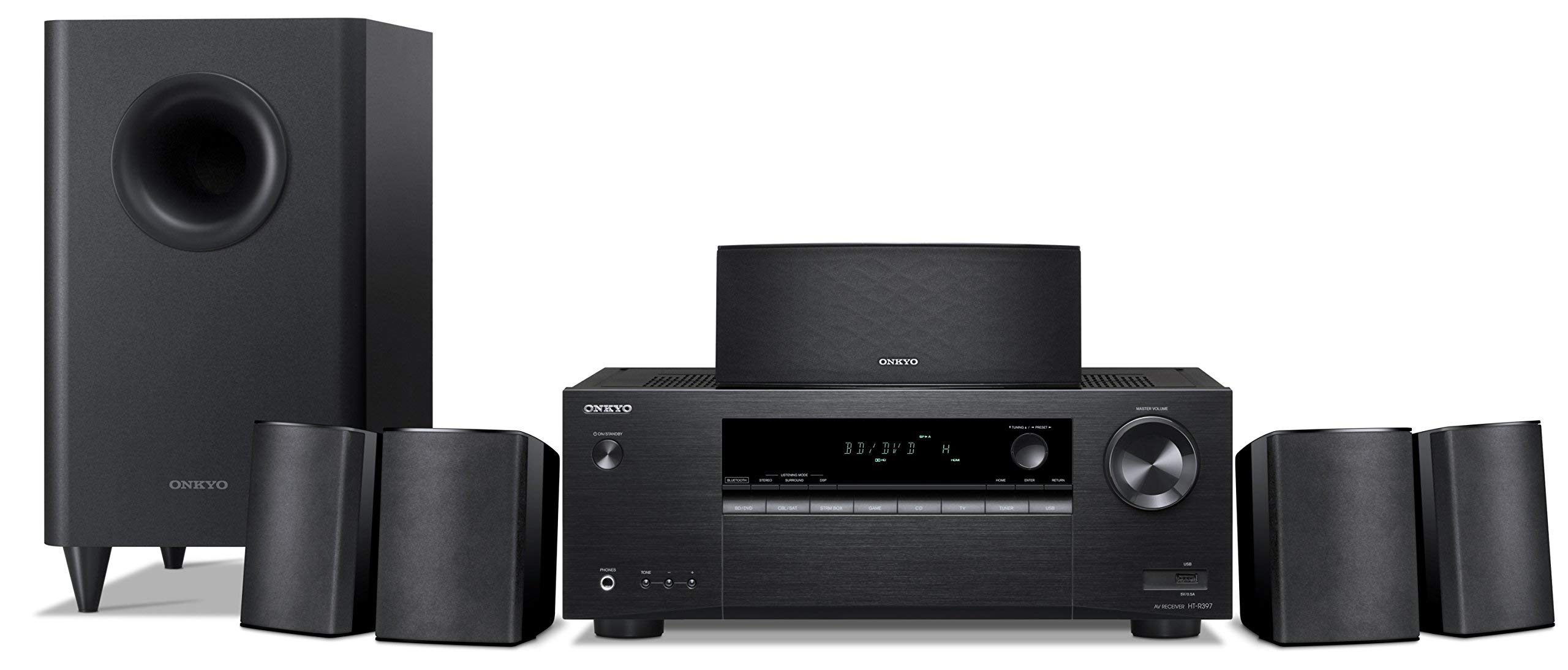 Onkyo HT-S3900 5.1-Channel Home Theater Receiver/Speaker Package (Renewed)