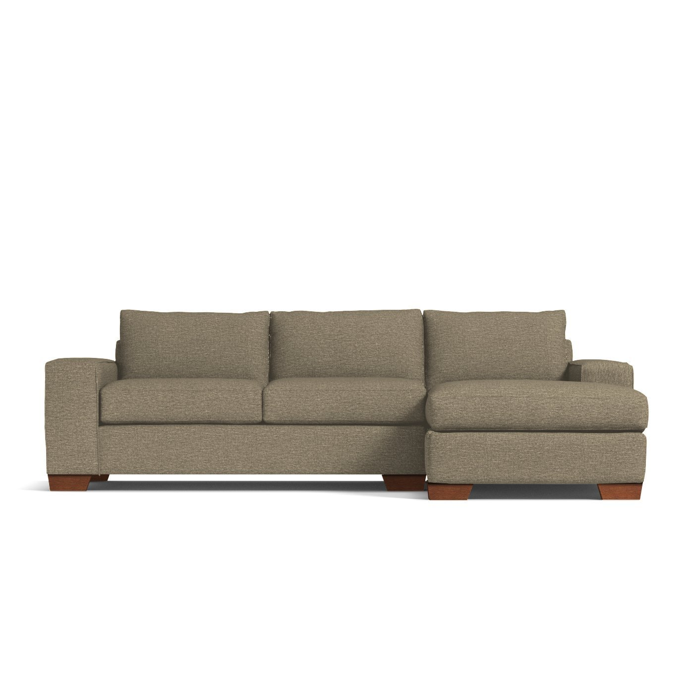 Outstanding Apt2B Melrose 2 Piece Sectional Sofa Raf Right Arm Facing Taupe Machost Co Dining Chair Design Ideas Machostcouk