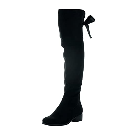 5b5d933afaa Angkorly - Zapatillas de Moda Botas Altas Cavalier Flexible Mujer Codones  de Saten Talón Tacón Ancho Alto 3.5 CM - Plantilla Forrada de Piel   Amazon.es  ...