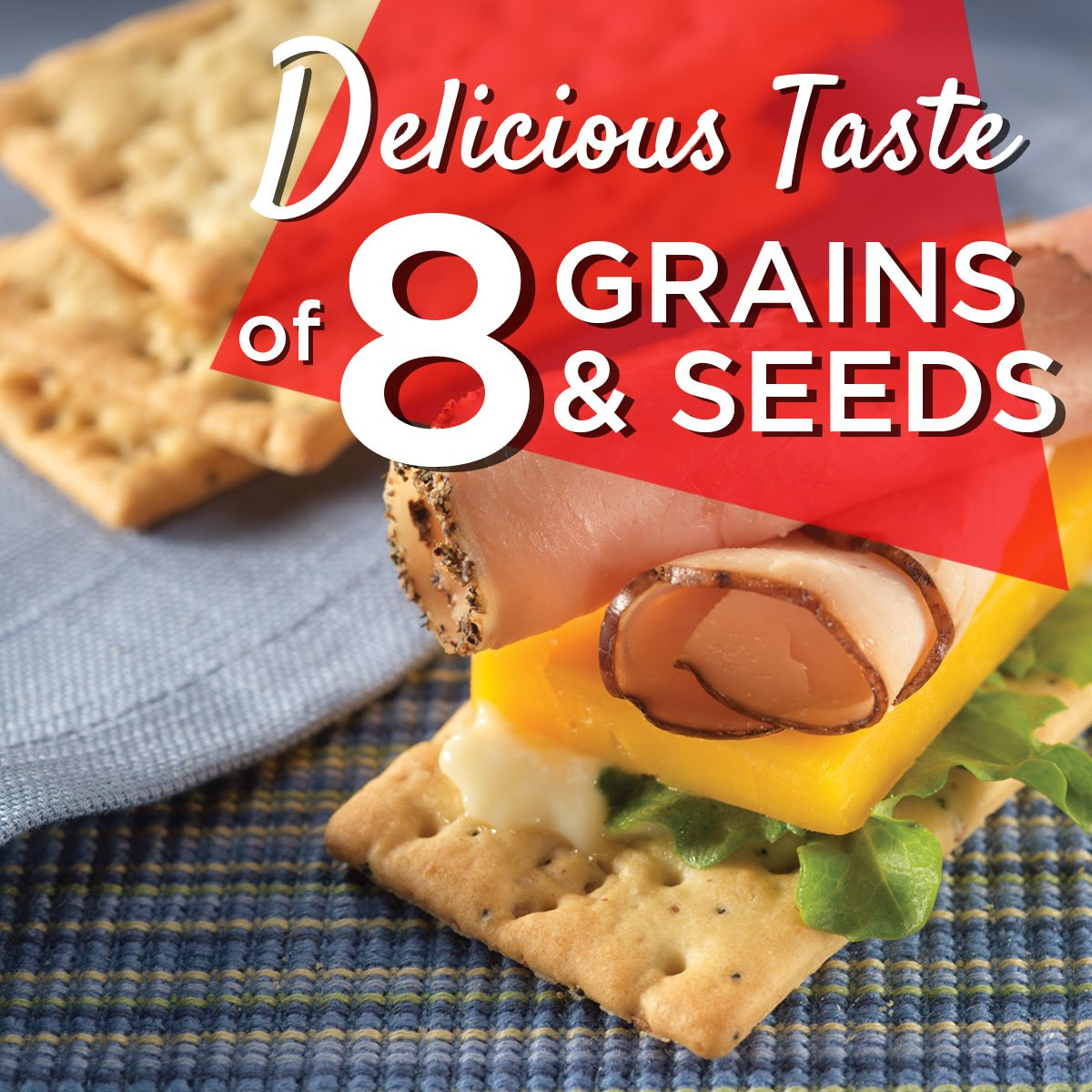 Vinta Crackers, Original – Delicious Bold Taste of 8 Grains and Seeds – No Artificial Flavors, No Cholesterol, Peanut Free - Delicious Plain or Topped, 8.8-ounce. (Pack of 12) by Dare (Image #4)