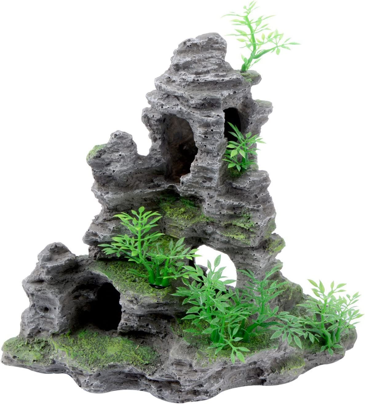 Saim Mountain View Aquarium Ornament Fish Tank Decoration-Large Sizes