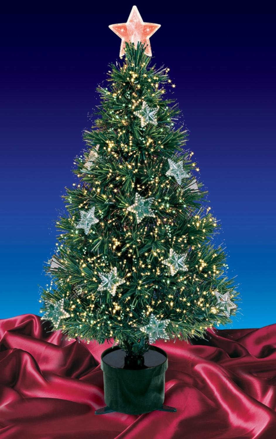 Amazon.com: Northlight Pre-Lit Fiber Optic Artificial Christmas Tree ...