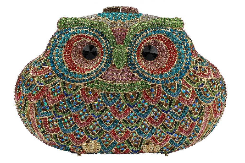 YILONGSHENG Owl Style Diamond Evening Handbags EB0716 Multicolor by YILONGSHENG