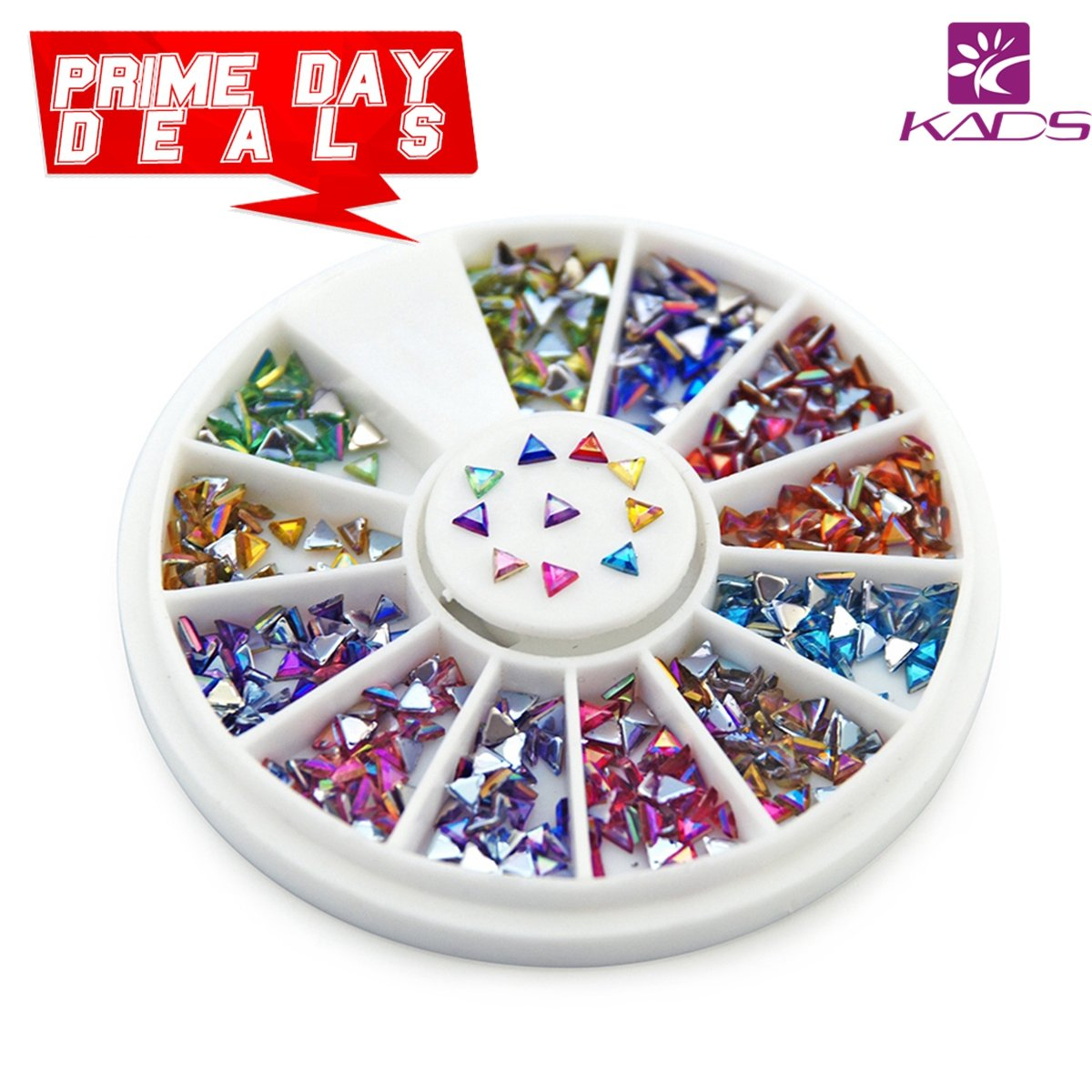 KADS AB 3*6MM Nail Art Studs Tear Colorful Rhinestones 120 Piece 12 Color Nail Art Manicure Wheels KADS Co. Ltd