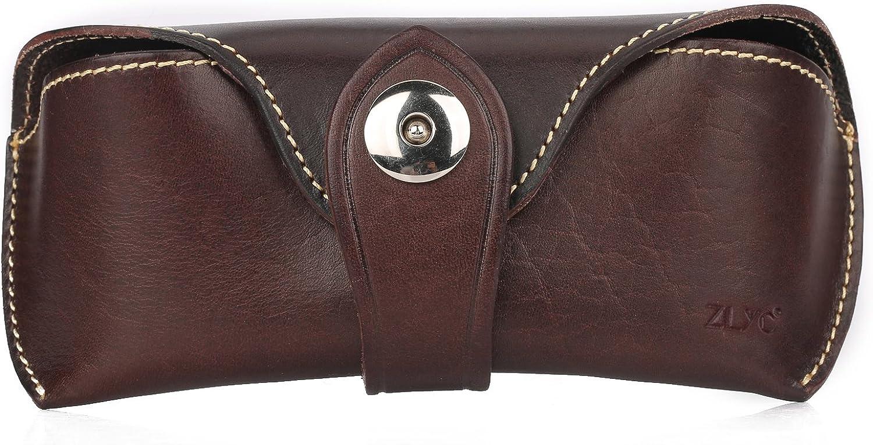 ZLYC Unisex Genuine Leather...