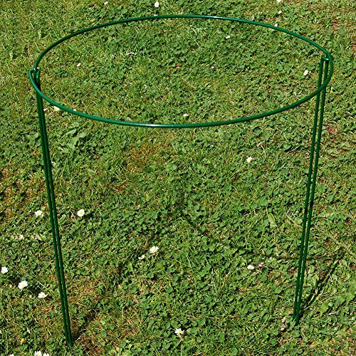 (TRRAPLE Strong Metal Garden Supports, 2 Pcs Half Round Plant Supports Hoops, Garden Hoop Plant Support System, Bow Plant Supports for Peonies, Hydrangea, Roses)