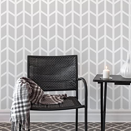 Amazon.com: Chevron Wide Wall Stencil for Painting - Expedited 3 ...