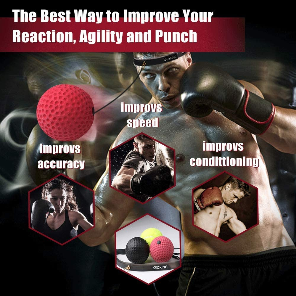 Boxing Quick Puncher Reflex Ball Boxing Speed Ball for Muay Thai MMA Fitness