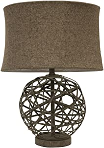 Decor Therapy TL10304 Table Lamp, Antique Textured Gray